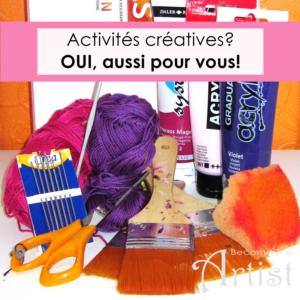 matériel pour activités créatives