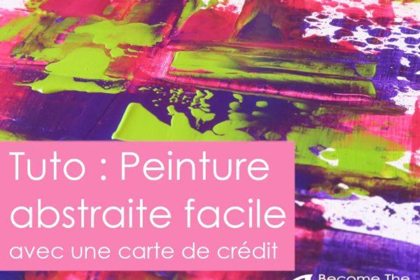 peinture abstraite facile avec carte de credit carte de fidelite, pour enfants ou adultes