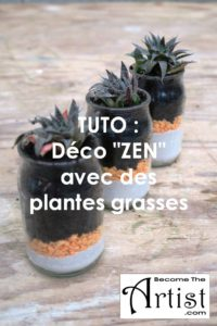 BecomeTheArtist TUTO Deco ZEN avec des Plantes Grasses