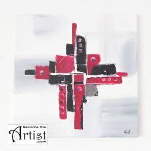 BecomeTheArtist - Tuto : Peinture acrylique MODERN 1