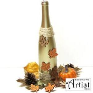 BecomeTheArtist.com Deco de saison avec une bouteille de vin