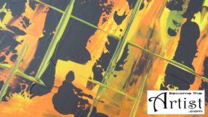 BecomeTheArtist.com TUTO DIY Toile Peinture acrylique abstraite - MODERN 2