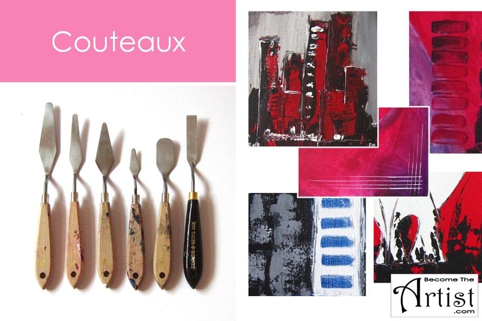 couteaux a peinture pour toiles peinture acrylique