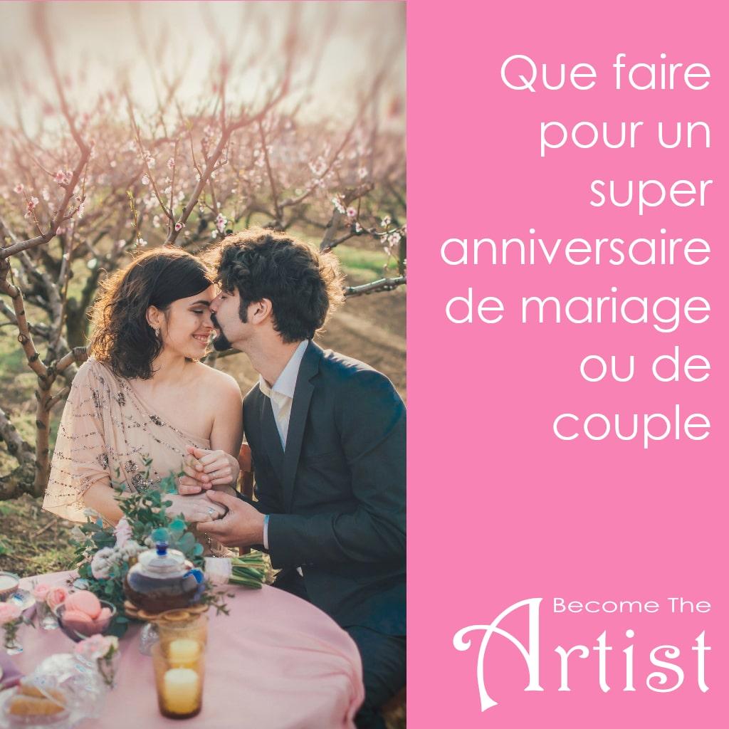 Que faire pour un anniversaire de couple ou de mariage | Guide