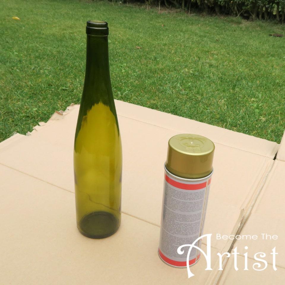 bouteille de vin nettoyée sans étiquette