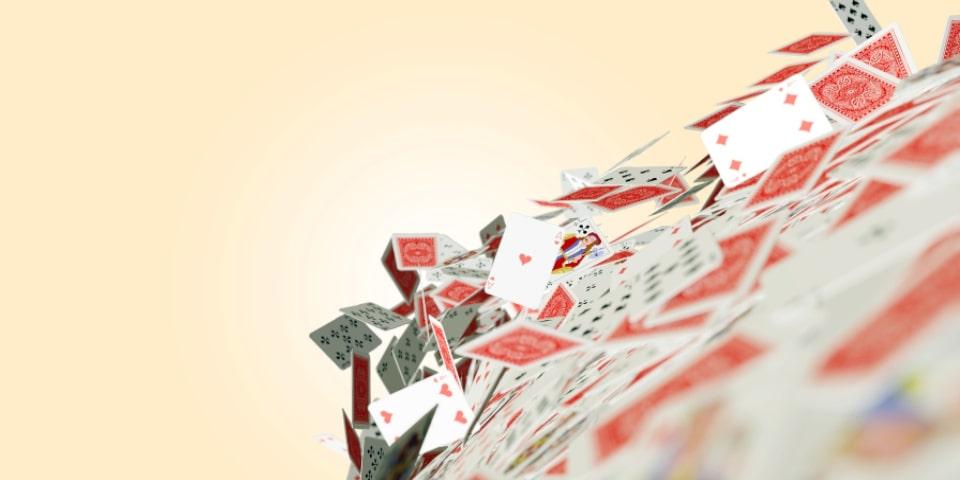 château de cartes qui s'écroule