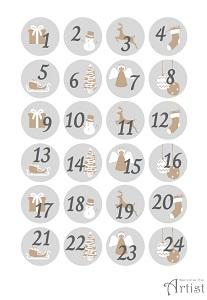 Printable gratuit numéros pour calendrier de l'avent à imprimer et découper soi-même