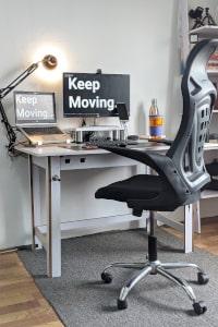 bouger à la maison bureau ergonomique