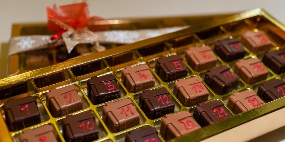 Calendrier de l'avent en chocolat