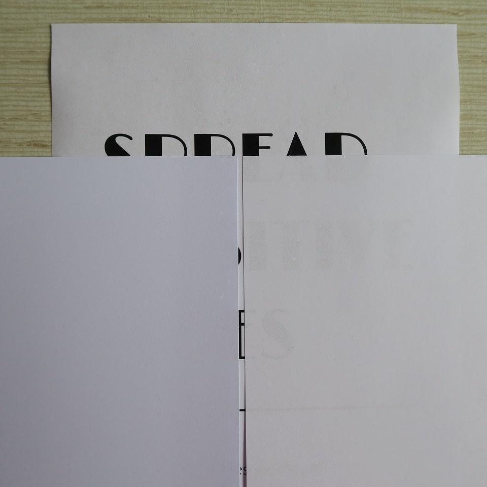 comparatif papier  fin et épais