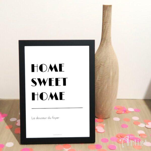 Affiche à imprimer Home Sweet Home - déco murale cocoon
