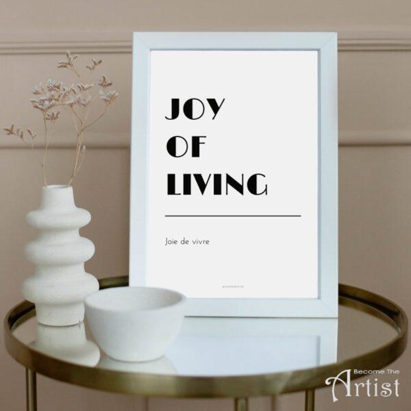 affiche à imprimer soi-même joy of living
