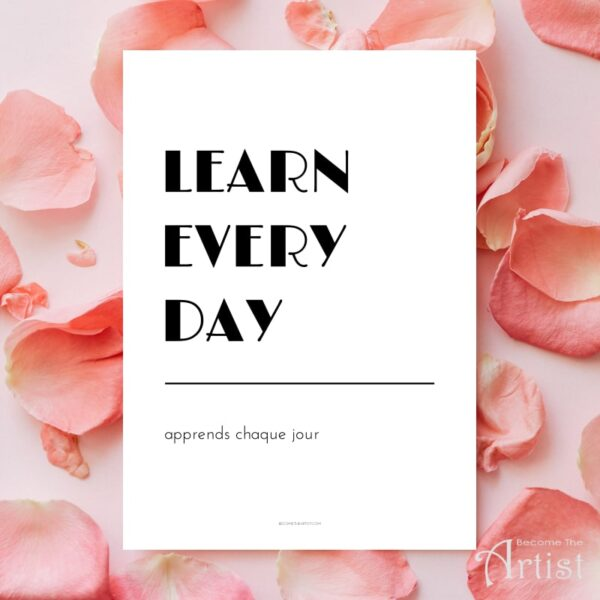 printable affiche learn every day