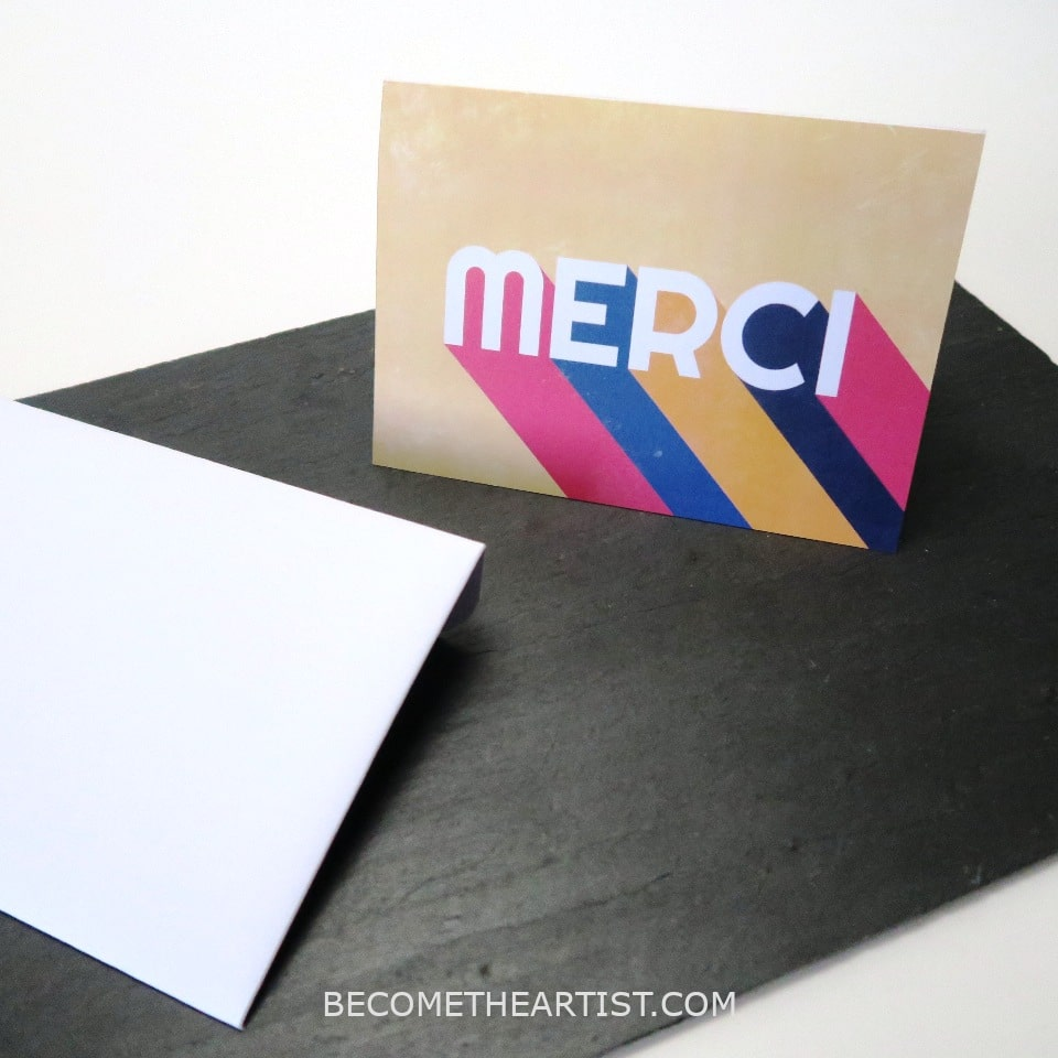 carte merci multicolore a imprimer