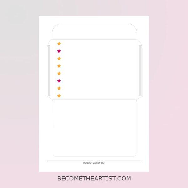 Kit carte d'anniversaire - motif étoiles - 3 couleurs -enveloppe