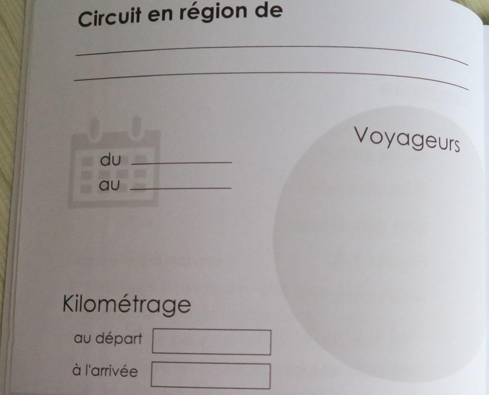carnet de voyage camping-car motorhome
