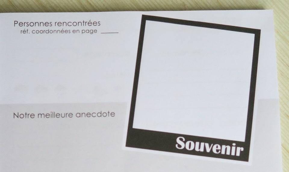 carnet de voyage en camping-car en France carnet souvenirs à remplir
