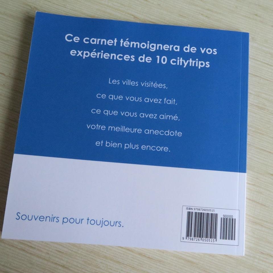 Carnet Nos Souvenirs - Citytrips par C. Dusoleil. A remplir
