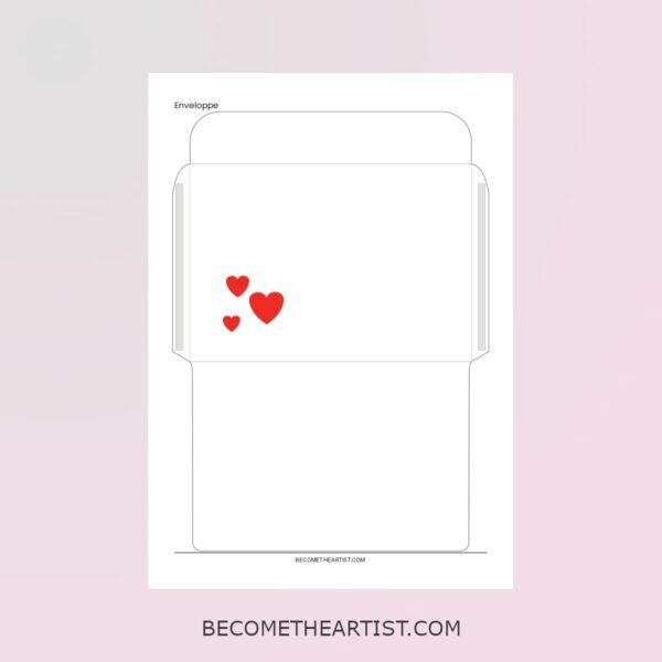 enveloppe du kit de la carte d'anniversaire de couple avec puzzle