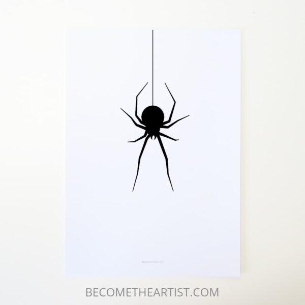 Idée de déco Halloween : araignée à imprimer pour fête d'halloween déco
