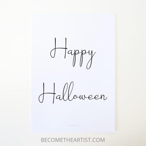 printable déco sobre Happy Halloween Idée de déco Halloween