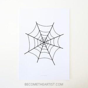 toile d'araignée à imprimer comme décoration d'Halloween