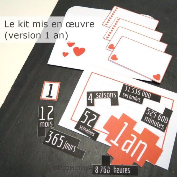 puzzle Kit carte d anniversaire de couple - mis en oeuvre